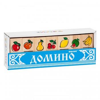 """Домино деревянное """"Фрукты-ягоды"""""""